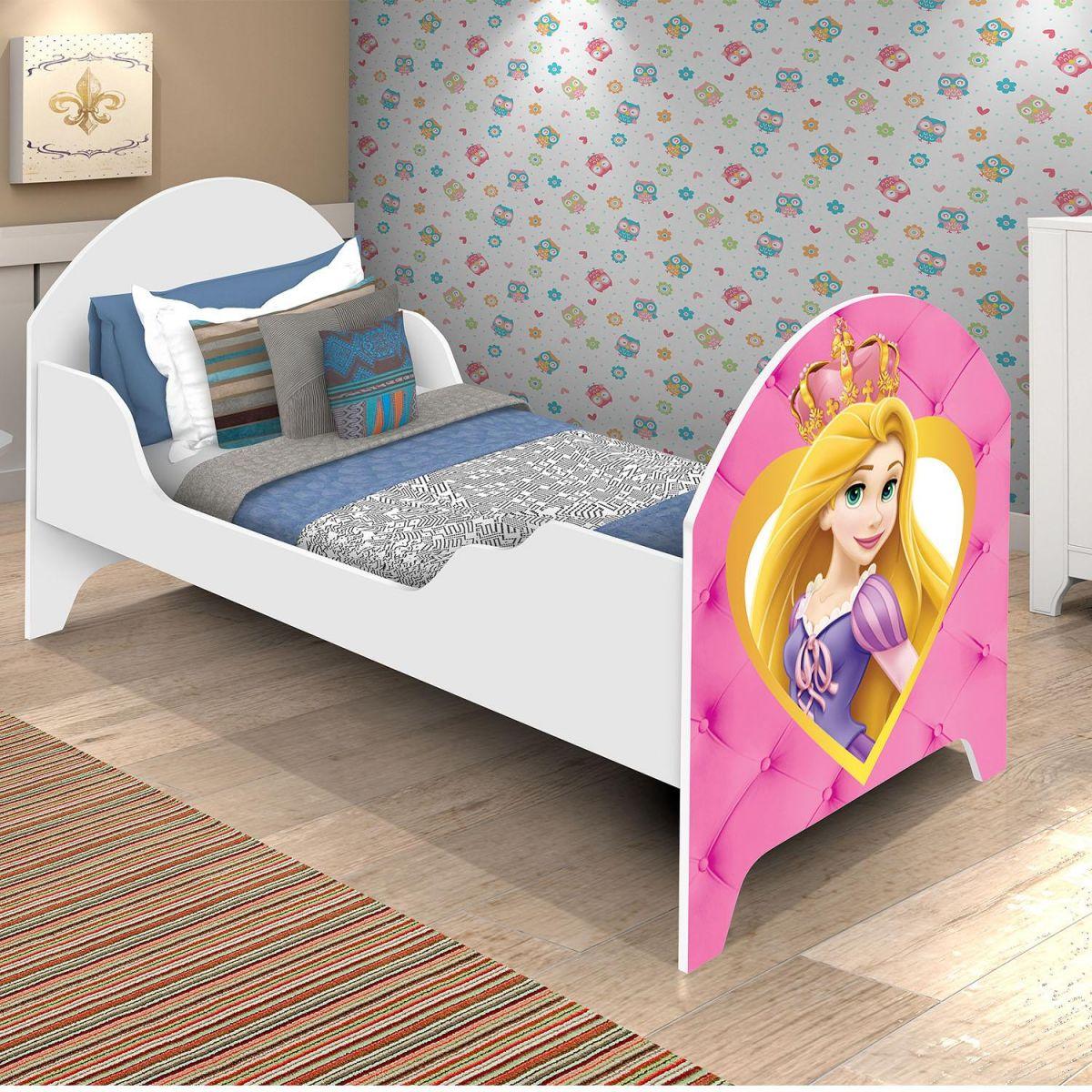 4216855608 Cama Infantil Luana Branca Feminina - Divaloto na Kids Baby