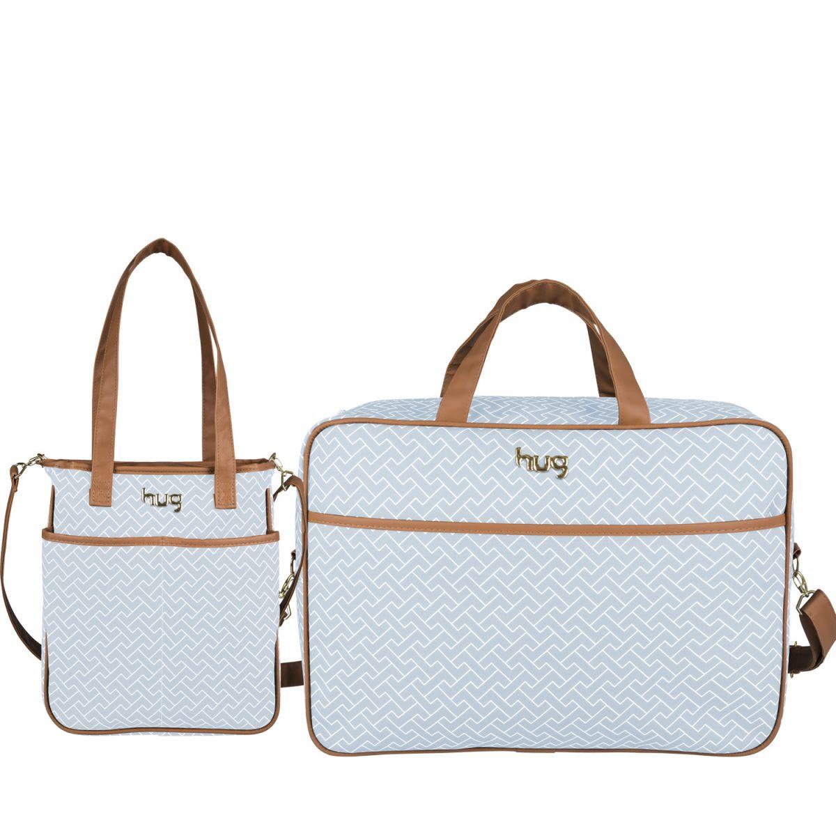 Bolsa Hug Dourada : Kit de bolsa maternidade hug xod? m e mala azul beb? na